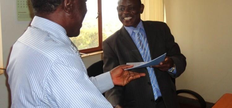 CEDAT Principal Hands over Office