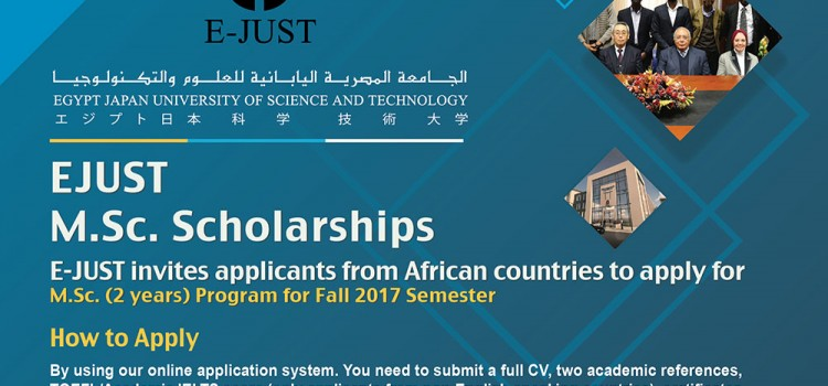 E-JUST Masters Scholarships