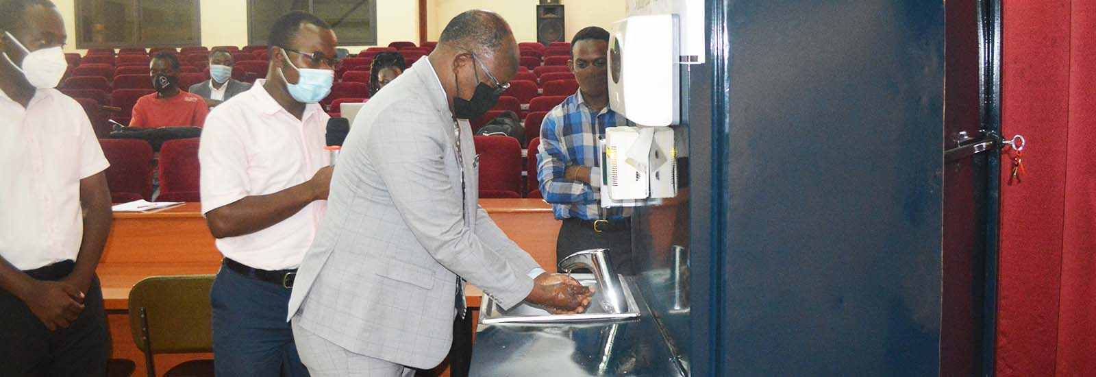 VC launches recyclable-water hand-washing machine in response to Covid-19