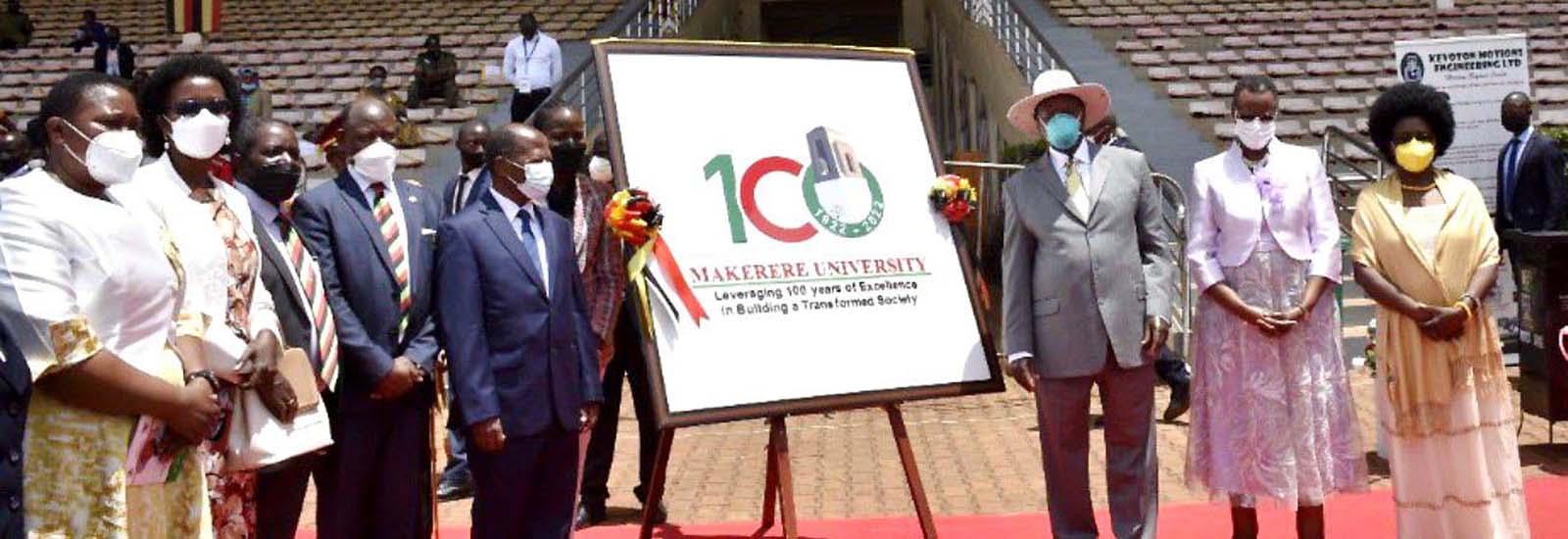 President Launches Mak@100 Celebrations